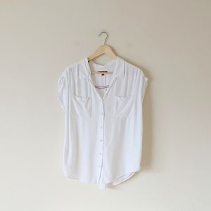 NWOT Jachs Girlfriend Quinn Cap Sleeve Top